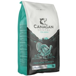 Canagan Free Run Turkey Dental Regular 2 kg Cibo Secco Per Cane con Tacchino Anti Placca