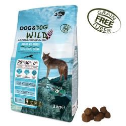 Gheda Dog&Dogi Wild Adult Regional Ocean 12 kg Cibo Secco Per Cane con Salmone Pesce Azzurro e Merluzzo Grain Free