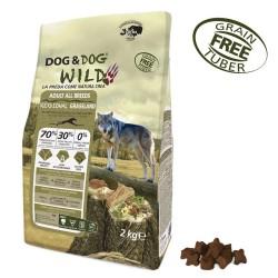 Gheda Dog&Dog Wild Adult Regional Grassland 2 kg Cibo Secco Per Cane con Bufalo Agnello Suino Grain Free