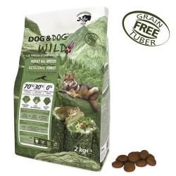 Gheda Dog&Dog Wild Adult Regional Forest 2 kg Cibo Secco Per Cane con Cervo Cinghiale Suino Grain Free