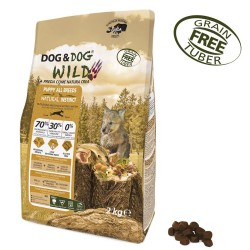 Gheda Dog&Dog Wild Puppy Natural Instinct 2 kg Cibo Secco Per Cane Cucciolo con Salmone Anatra Uova Grain Free