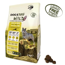 Gheda Dog&Dog Wild Adult Regional Farm 2 kg Cibo Secco Per Cane con Pollo Anatra Coniglio Grain Free