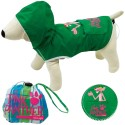 Pink Panther Giacca Impermeabile Per Cane Tg. 22 cm Con Cappuccio Verde