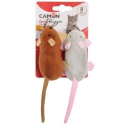 Camon Topini con Tasca per Catnip Gioco in Peluche per Gatto da 8 cm