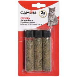 Camon Catnip in Tubo Attrattivo per Gatto 3 Tubetti da 2 gr