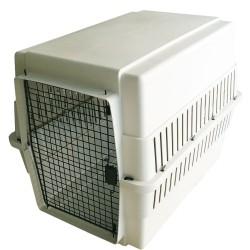 FARM COMPANY AIR Large Trasportino per Cane 66x92x72h cm in Plastica con Porta in Metallo