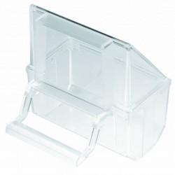 2GR Mangiatoia Esterna in Plastica Per Gabbia Uccelli 7x4x8h cm Universale