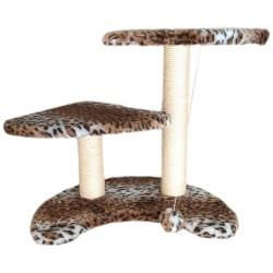 Tiragraffi a 2 Livelli con Cordicella e Pallina 58x40x52h cm Animalier per Gatto