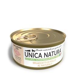 Unica Natura Sfilaccetti Di Pollo Al Naturale 70 g Cibo Umido per Gatto