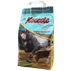 Le Koccole Pure Lettiera Naturale Stetilizzata da 5 kg per Gatto Bentonite Agglomerante