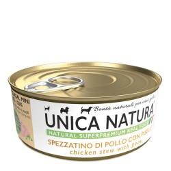 Unica Natura Spezzatino Di Pollo Con Piselli 150 g Cibo Umido Per Cani Toy, Miniature e Small Di Tutte Le Età