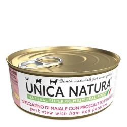 Unica Natura Spezzatino Di Maiale Con Prosciutto e Patate 150 g Cibo Umido Per Cani Toy, Miniature e Small Di Tutte Le Età