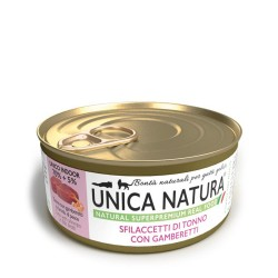 Unica Natura Sfilaccetti Di Tonno Con Gamberetti 70 g Cibo Umido per Gatto