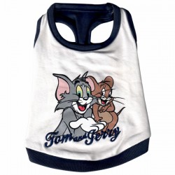 Love Pets Tom and Jerry Canotta per Cane Tg. S/25 cm con Sacca in Cotone