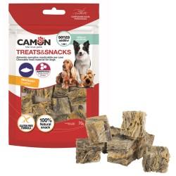 CAMON TREATS & SNACKS cubi di pelle di Merluzzo monoproteico per Cane da 70gr