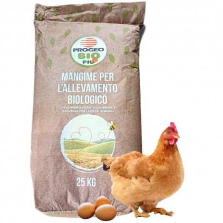 Progeo BIOFORCE OVAIOLE PELLET Mangime Completo BIOLOGICO per GALLINE OVAIOLE da 25 kg