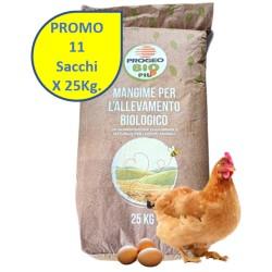 11X25 Kg Progeo BIOFORCE OVAIOLE PELLET Mangime Completo BIOLOGICO per GALLINE OVAIOLE