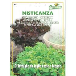 Hortus Ortovivo - semi di Misticanza di lattughe da taglio rosse e bionde