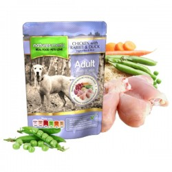 NATURES MENU Chicken with Rabbit & Duck ADULT - CIBO UMIDO PER CANE ADULTO gusto POLLO CON CONIGLIO E ANATRA da 300 gr