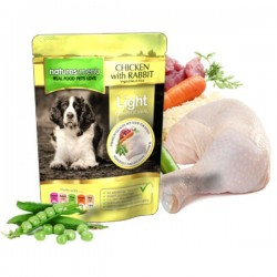 NATURES MENU Chicken with Rabbit LIGHT - CIBO UMIDO PER CANE gusto POLLO CON CONIGLIO da 300 gr