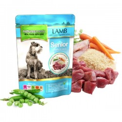 CIBO UMIDO NATURES MENU  SENIOR CON AGNELLO 300 GR.
