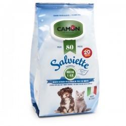 CAMON - Salviette al Muschio e Aloe Maxi formato per CANE e GATTO