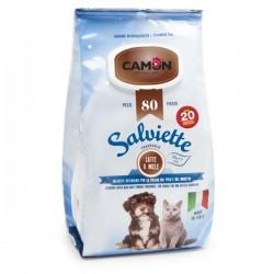 CAMON - Salviette al Latte e Miele Maxi formato per CANE e GATTO