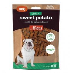 LES FILOUS - BBQ SWEET POTATO Snack per cani da 100 gr