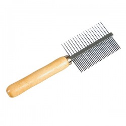 FARM COMPANY - Pettine doppio 20/30 denti con manico in legno