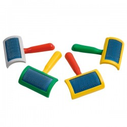 FARM COMPANY Cardatore piccolo per Cane e Gatto in plastica multicolore