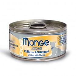 MONGE NATURAL SUPERPREMIUM DOG - Cibo umido per CANE al POLLO con FORMAGGIO da 95 gr