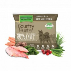 NATURES MENU' COUNTRY HUNTER full flavoured rabbit - CIBO SURGELATO PER CANI gusto CONIGLIO SAPORITO da 1 Kg