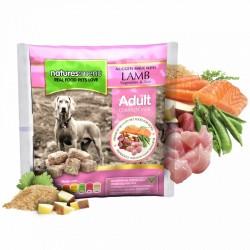 NATURES MENU' raw frozen lamb nuggets - CIBO SURGELATO PER CANI gusto AGNELLO, con VERDURE e RISO da 1Kg