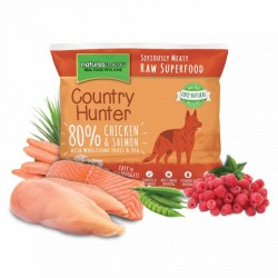 NATURES MENU' COUNTRY HUNTER chicken with salmon nuggets - CIBO SURGELATO PER CANI gusto POLLO e SALMONE con LAMPONI da 1Kg