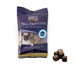 FISH4DOGS Sea Biscuits  SMALL Tiddlers - Snack per CANE con pelle di pesce da 100 gr
