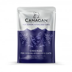 CANAGAN Chicken For Senior / Sterilised Cats - Cibo Umido per Gatti Anziani / Sterilizzati con POLLO da 85 GR