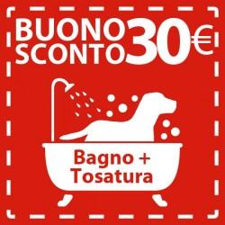 BUONO SCONTO per un BAGNO CANE da € 30