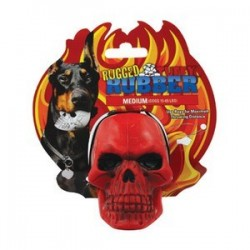 Tuffy® Rugged Rubber: Skull Red Gioco in gomma per cane