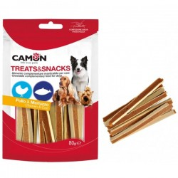 CAMON - Treats Snacks per CANE con Pollo e Merluzzo da 80 gr