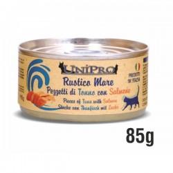 RUSTICO MARE pezzetti di TONNO con SALMONE per GATTO da 85 gr