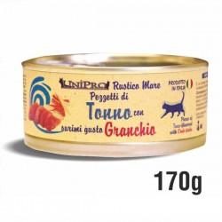 RUSTICO MARE pezzetti di TONNO con SURIMI gusto GRANCHIO per GATTO da 170 gr