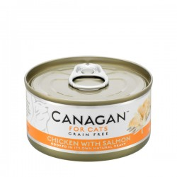 CANAGAN FOR CATS Cibo umido per GATTI grain-free da 75 gr - CHICKEN WITH SALMON