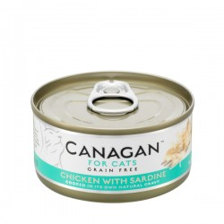 CANAGAN FOR CATS Cibo umido per GATTI grain-free da 75 gr - CHICKEN WITH SARDINE
