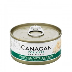 CANAGAN FOR CATS Cibo umido per GATTI grain-free da 75 gr - CHICKEN WITH SEABASS