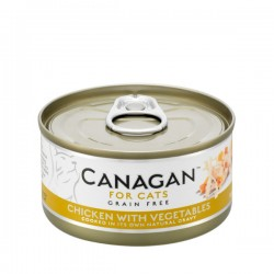 CANAGAN FOR CATS Cibo umido per GATTI grain-free da 75 gr - CHICKEN WITH VEGETABLES