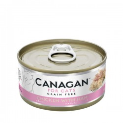 CANAGAN FOR CATS Cibo umido per GATTI grain-free da 75 gr - CHICKEN WITH HAM