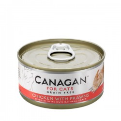 CANAGAN FOR CATS Cibo umido per GATTI grain-free da 75 gr - CHICKEN WITH PRAWNS