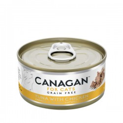 CANAGAN FOR CATS Cibo umido per GATTI grain-free da 75 gr - TUNA WITH CHICKEN