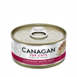 CANAGAN FOR CATS Cibo umido per GATTI grain-free da 75 gr - CHICKEN WITH BEEF