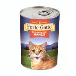 FORTE GATTO BOCCONCINI CON MANZO PER GATTO da 405 gr